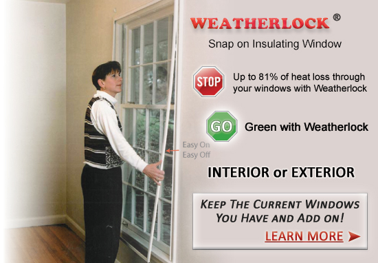 Weatherlock Snap On Insulated Windows